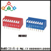 Red&Blue Piano Type PCB DIP Switch