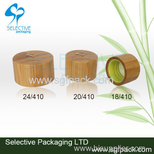 hot sale recyclable bamboo lid plastic bottle cap screw cap inner plastic cap 18mm/20mm/24mm/28mm wooden cap
