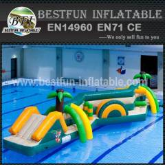 Pvc inflatable water slide park