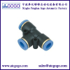 3 way pneumatic fitting tee connector nylon pu tube air joint
