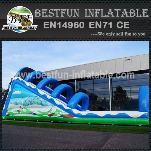 Inflatable toboggan winter custom