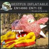 Inflatable amusement slide dragon shape