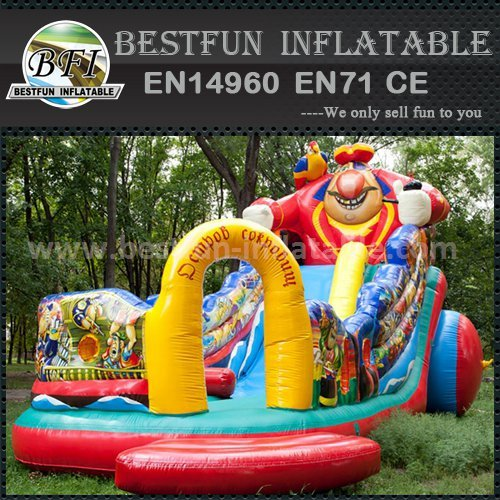 Inflatable cartoon theme slide