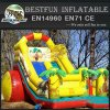 Inflatable double dragon slider