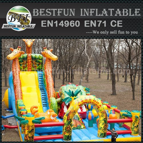 Inflatable Jail Bounce House With Slide Manufacturers And