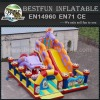 Inflatable tunnel course with slide