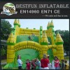Large inflatable green slide