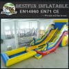 Long inflatable pool slide