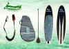 Round Pin tail standing paddle board funboard surfboard in river / lake