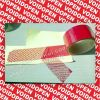 Red tamper evident security seal tape(pet) Open void seal tape Tamper proof sealing tape in roll