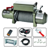 PLI covered 13000 LB Truck Winch/ Winches with remote control and integrated metal control box