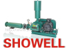 showell three lobes' roots blower for waste water treatment