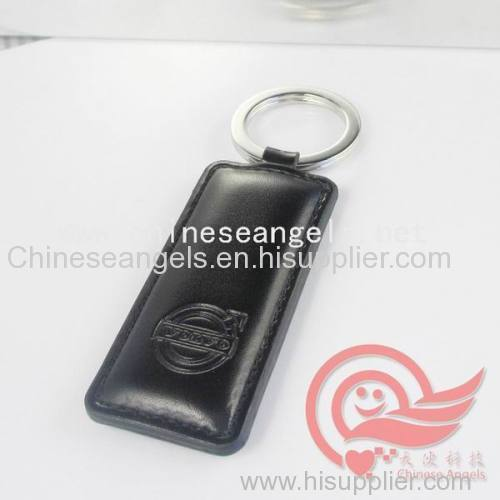 custom leather key chains leather key rings factory pvc and genuine leather keychains key fabs manufacturer