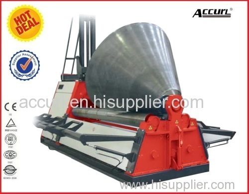 30mm Hydraulic CNC 4-roller metal plate rolling machine