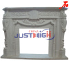 Hot Sale European Style White Marble Fireplace