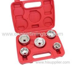 5Pc Cap Oil Filter Wrench