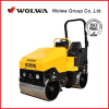 China small Ride-on mini vibratory new road roller price with Honda gasoline engine road roller