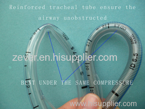 Reinforced armoured endotracheal tube ( plain or cuffed)
