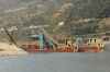 gold dredging and concentration vessel