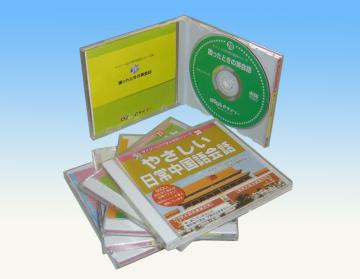 cd dvd copy pack in CD jewel Case with Color Tray shrink wrap or cellophane packaging