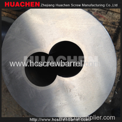 Conical bimetallic twin screw and SKD barrel for SJSZ 65/132