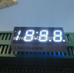 "Ultra Bright White 4-Digit 0.33"" 7 Segment LED Display for Digital Clock Indicator"