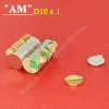 High Quality Neodymium 3M Adhesive Magnet N35 D10 x 1mm Disc magnets