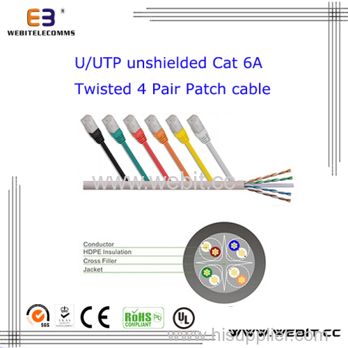 U/UTP CAT6A Patch cable/ patch cord