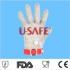 Hot Sale Item U Safe brand 304L stainless steel welded wire mesh gloves industrial safety gloves metal mesh glove