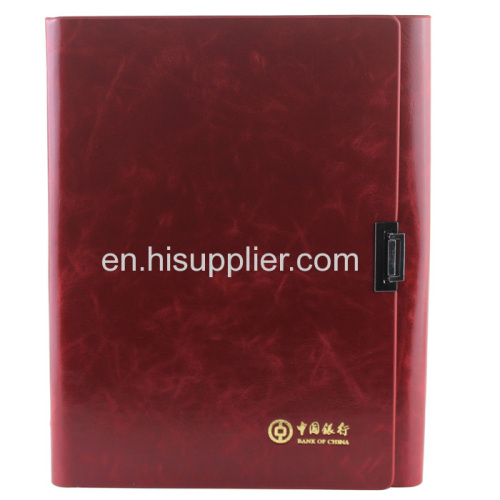 Business promotional PU cover paper notebook