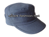 Custom high quality flat top fashion cotton army military cap