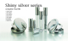 Makeup container shiny silver empty lip gloss/eyeliner/mascara/lipstick/compact powder container cosmetic packaging
