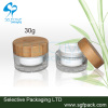 bamboo cap for 15g and 30g 50g acrylic jar cream jar personal care package bamboo container acrylic jar