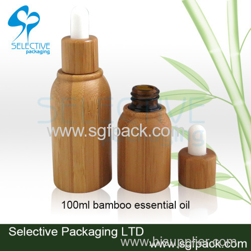 bamboo glass essential oil bottle 5ml 10ml 15ml 20ml 30ml 50ml 100ml inner glass dropper bottle