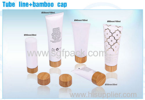 bamboo tube cap for 50ml 100ml 120ml 150ml 180ml 200ml face cleanser tubes and hand cream cosmetic tubes