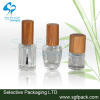 Bamboo cap nail polish glass bottle