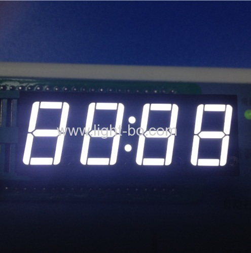 Super bright green common anode 4 digit 0.56 inches 7 segment led clock displays
