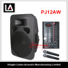 12inch Plastic Portable Cabinet Speaker with Wireless Microphone PJ 12AW