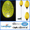 Cixi Landsign CE/ROHS egg shape garden glass light for garden decorations led mini solar torch light with solar panel