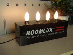 led bulbs lights sample show display stand