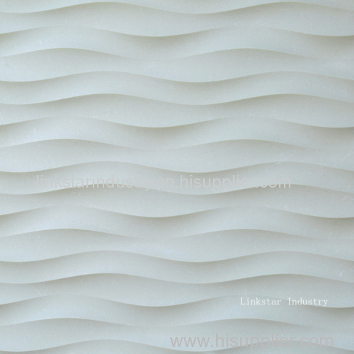 3D decor wavy interior stone wall design