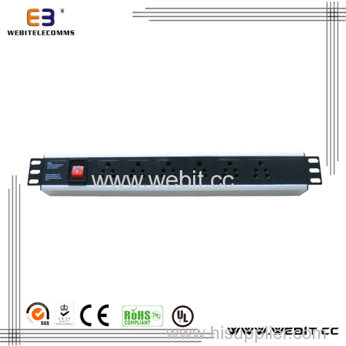 1U India series PDU with switch