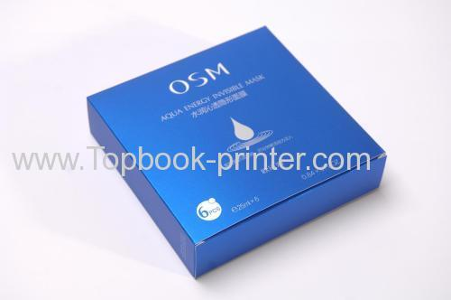Top-grade PANTONE Trans.Wt silver-stamping OSM mask packaging box