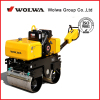 WOLWA brand 0.82 ton walk type double wheel road small road roller with HONDA engine for sale
