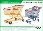 Unfolding 160L american shopping carts With baby seat , steel shopping trolley