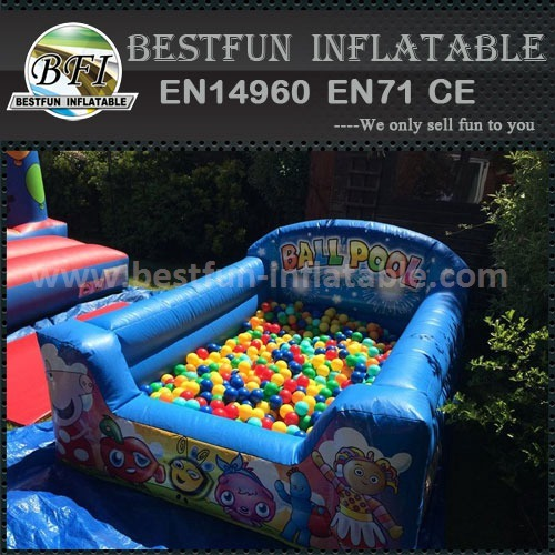 Small Inflatable Bouncer Ball Pit PE Ocean Balls Pool for Baby