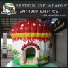 Hot selling fantastic commercial pvc mushroom style cheap inflatable bouncer