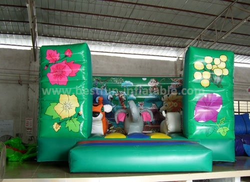Giant and commercial 2015 Lovely Jungle Animals Inflatable Bouncer