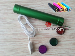 LED Flashlight Torch and Charger W/Lithium Battery Backup for Mobile Phone Tablet