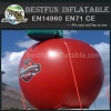 Giant inflatable apple for advertising